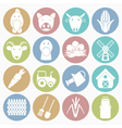 White icons farm vector