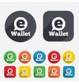 Ewallet sign icon electronic wallet symbol vector