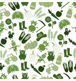 Farm icons green seamless pattern eps10 vector