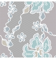 Lace fabric seamless pattern with abstact flowers vector