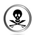 Piracy flag button vector