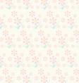 Vintage pink flower pattern on pastel color vector