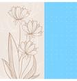 Beige flowers vector