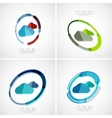 Cloud storage logotype set 3d minimal design vector
