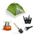 Tourist objects vector