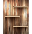 Wood 3d isolated empty shelf for exhibit eps 10 vector