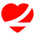 Belted up heart vector
