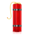 Red dynamite sticks vertical vector