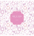 Baby girls frame seamless pattern background vector
