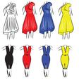 Womens dresses vector