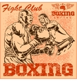 Vintage boxing poster vector