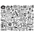 Rap music  hip hop  graffiti icons set vector
