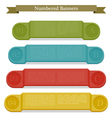 Full colors numbered banners vector