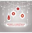 Christmas retro vintage greeting card vector