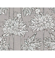 Seamless pattern with chrysanthemum vector