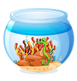 An aquarium with a seahorse vector