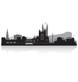 Bath city skyline silhouette vector