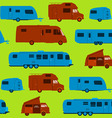 Seamless caravan pattern vector