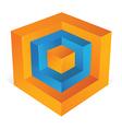 3d cube as web design element vector