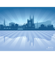Bath england skyline with reflection in water vector