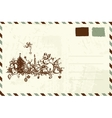 Envelope with christmas sketch and place for your vector