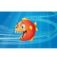 A red piranha under the sea vector