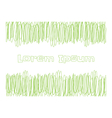 Scribble green lines for copy text vector