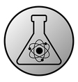 Laboratory glass button vector