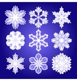 Set of filigree snowflakes vector