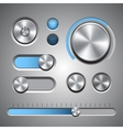 Set of the detailed ui elements vector