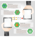 Tablet infographic element in polygon design for vector