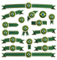Brazil ribbons vector