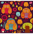 Owl forest vector