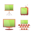 Tv monitor icons vector