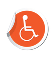 Handicap symbol orange tag vector