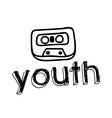 Cassete design vector