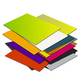 Business card pile template1 vector