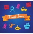 Beach vacations travel vector