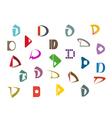 Alphabet symbols and elements vector