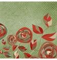 Vintage rose card vector