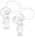 Schoolchildren solve a problem vector