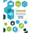 Meet business partners poster vector