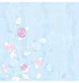 Bouquet of roses on blue background vector