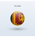 Sri lanka round flag vector