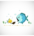 Drawing funny cartoon sea fish eps vector