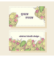Business cards set with abstract pattern vector