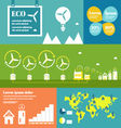 Wind energy infographic elements vector