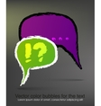 Colored drawing chat box vector