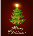Background postcard christmas with a tree vector