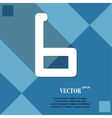 Number six icon symbol flat modern web design with vector